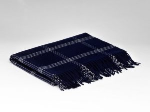 McNutt Navy Window Pane Pashmina Wrap
