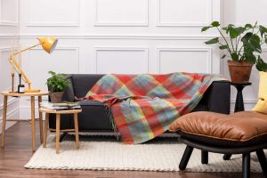 Foxford Woodlands Check Lambswool Throw