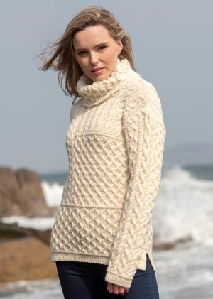 Aran Crafts Super Soft Cowl Neck Sweater