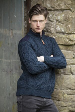 Aran Crafts Blackwatch Full Zip Sweater