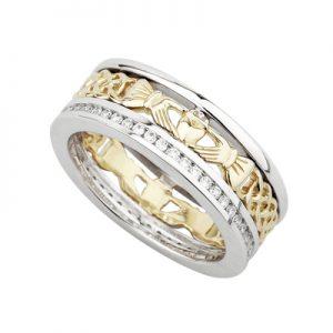 Solvar 14K Diamond Claddagh Band S2986