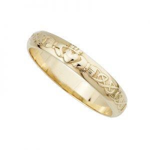 Solvar 14K Narrow Claddagh Wedding Band S2305