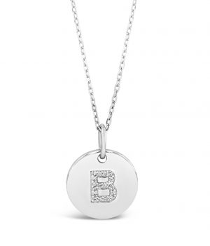 Absolute Sterling Silver Initial Necklace si100b