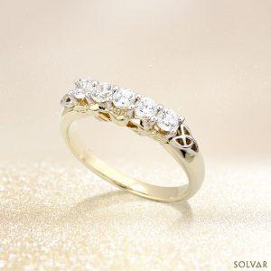 Solvar 10K Cz Claddagh Eternity Ring S2982