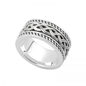 Solvar Gents Silver Celtic Knot Ring S21048