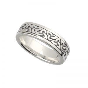 Solvar Ladies Silver Oxidised Trinity Ring S21011