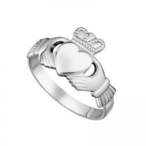 Solvar Ladies Sterling Silver Claddagh Ring S2216
