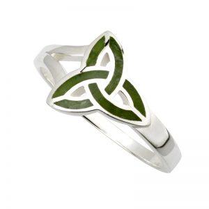 Solvar Marble Trinity Knot Ring S21035