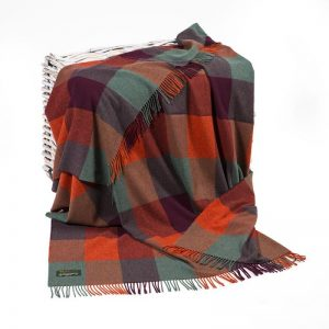 John Hanly Block Lambswool Throw Blanket
