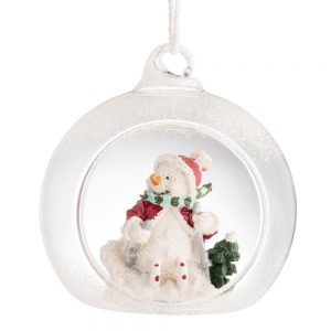 Galway Living Skiing Snowman Hanging Ornament