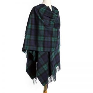 John Hanly Black Watch Navy Green Liz Cape
