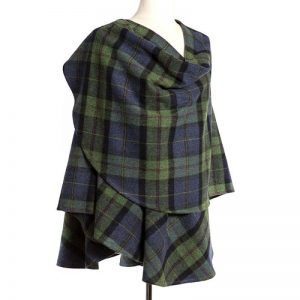John Hanly Green Check Sue Cape 625