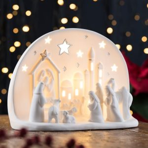 Belleek Living Town Of Bethlehem Luminaire