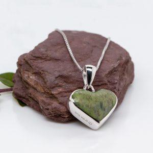 Solvar Sterling Silver Connemara Marble Heart Pendant
