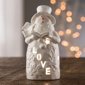 Belleek Living Love Snowman