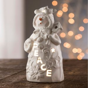 Belleek Living Peace Snowman