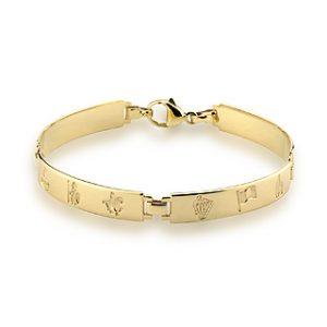 History Of Ireland 14K Ladies 4 Link Bracelet S5505