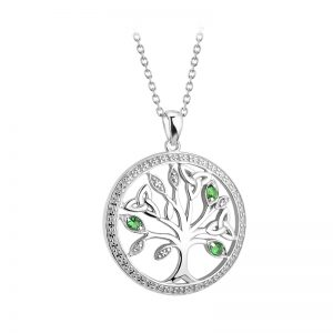 Solvar Sterling Silver Crystal Illusion Tree Of Life Pendant S46622
