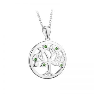 Solvar Sterling Silver Crystal Tree Of Life Pendant S46473
