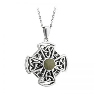 Solvar Sterling Silver Connemara Celtic Cross Pendant S46624