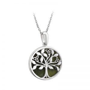 Solvar Sterling Silver Connemara Marble Tree Of Life Pendant S46669
