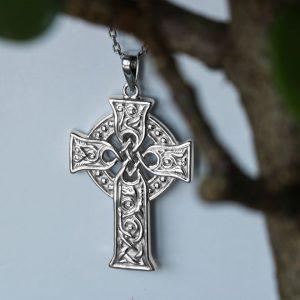 Solvar Sterling Silver Small Apostles Celtic Cross Pendant S46604