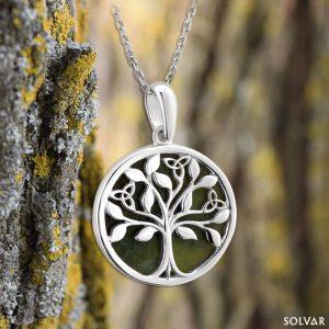 Solvar Connemara Marble Tree Of Life Pendant
