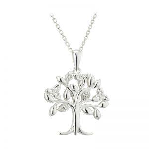 Solvar Sterling Silver Tree Of Life Pendant S46362