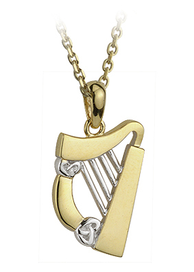 Solvar 9K Two Tone Harp Pendant S44051