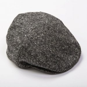 John Hanly Grey/Black Donegal Tweed Cap