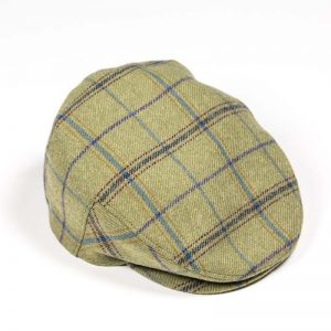 John Hanly Plaid Blue Purple & Mustard Check Cap