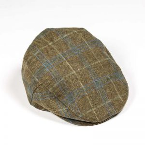 John Hanly Brown Green & Blue Check Cap