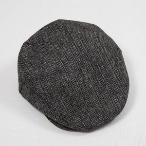 John Hanly Grey Herringbone Donegal Cap