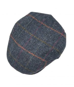 John Hanly Blue Windowpane Cap