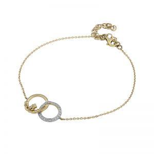 Solvar 14K Diamond Claddagh Circle Bracelet S50035