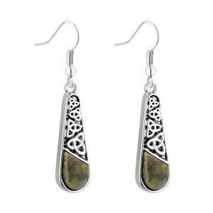 Solvar Connemara Marble Trinity Long Drop Earrings S34041
