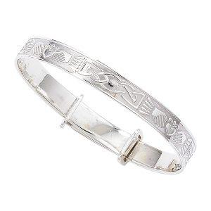 Claddagh Christening Bracelet Sterling Silver
