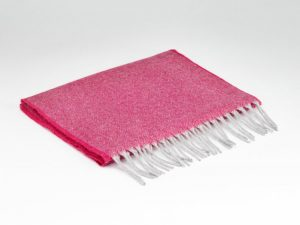 Mcnutt 100% Cashmere Hot Pink Scarf