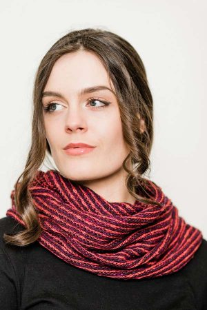 Bill Baber Raspberry Donegal Snood