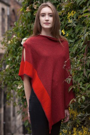 Bill Baber Raspberry Cashmere Silk Cape