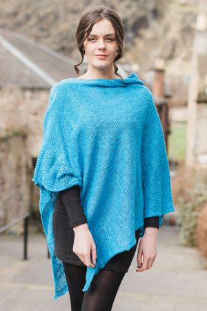 Bill Baber Royal Blue Linen Cape