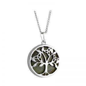 Solvar Connemara Marble Tree Of Life Pendant s46795