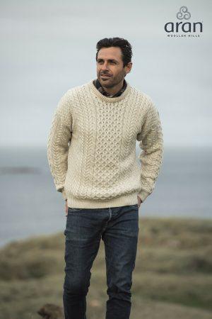 Aran Woollen Mills Merino Wool Fisherman Sweater a823 162