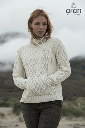 Aran Woollen Mills Supersoft Collared Sweater
