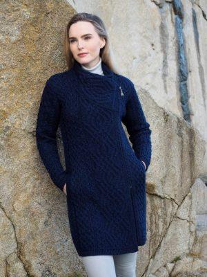 Liffey Side Blue Zip Coat Z4631