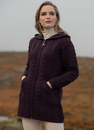 Galway Coat With Celtic Knot Zipper