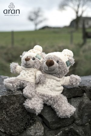 Aran Woollen Mills Teddy With Jumper And Hat