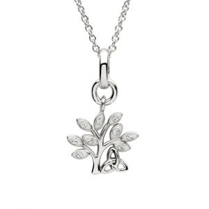Shanore Sterling Silver Crystal Tree Of Life Pendant sw156