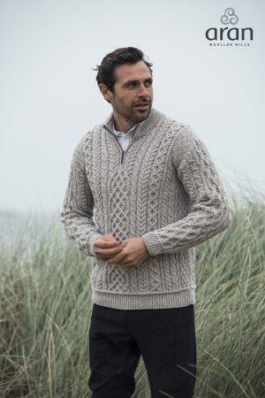 Aran Woollen Mills 1/2 Zip Sweater