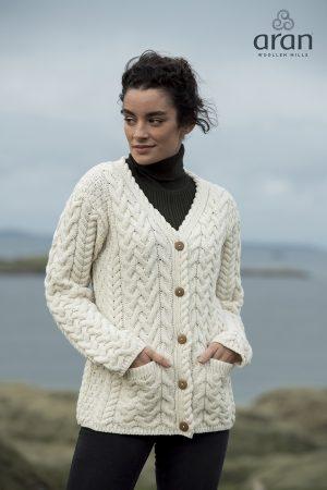 Aran Woollen Mills Buttoned Cardigan